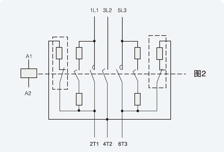 因电容器内部为三角形连接,当电阻切合电路接通时,每相电容电路均有