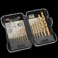 德国麦思德 金属钻头套装盒 充电手枪钻麻花钻头金属小开孔工具