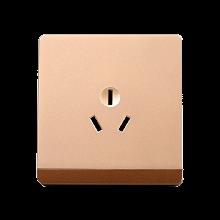 西龙86型香槟金色a空调用插座 16A三孔空调大功率插座