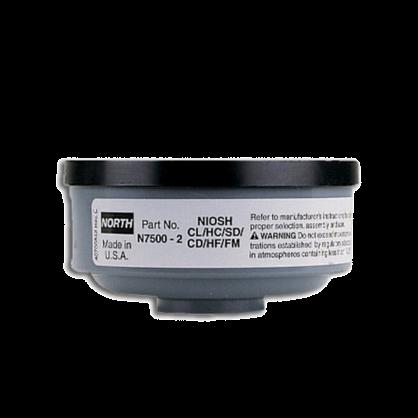 霍尼韦尔/诺斯N75002滤毒盒 N7500-2滤盒 N75002酸性气体滤芯