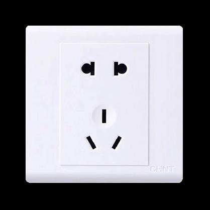 正泰五孔插座 NEW7-D11100 五孔插座电源 墙壁开关