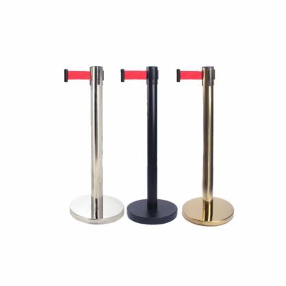一米线栏杆隔离带伸缩带 警戒线栏杆座 银行排队护栏围栏 警戒带