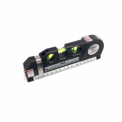 激光水平仪打线器标线尺十字线激光水平尺2.5米卷尺铝合金座 中文