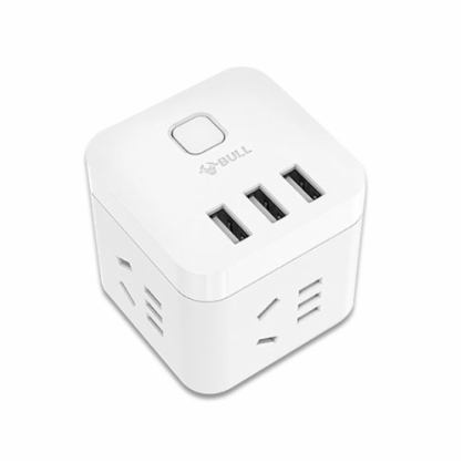 公牛插座迷你USB智能魔方插座插排插线板苹果安卓USB插座1.5米