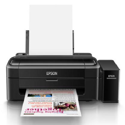 爱普生L130墨仓式彩色喷墨照片相片a4打印机学生家用办公原装连供四色图片文档黑白小型网络作业打印全新黑色