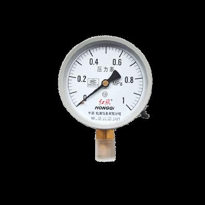 红旗普通压力表Y-100径向规格齐全0-60Mpa 真空表标准螺纹M20*1.5