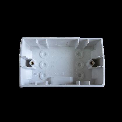 插座配件家装工程120鸿雁PC明盒m4满包邮3折公分塑料安装盒高度40