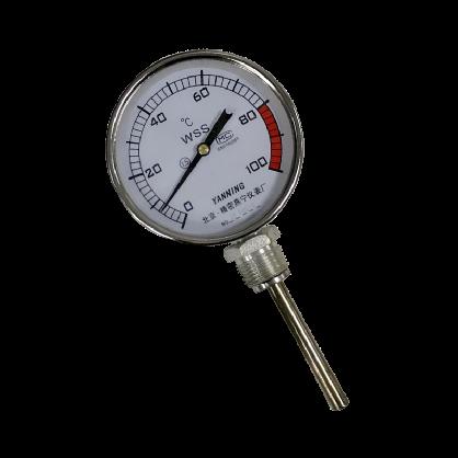 双金属温度计双金属温度表插入式温度计带探头温度计径向螺纹轴向