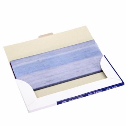 蓝色复写纸16k复写纸小a4薄型48k双面复印纸16开印蓝纸32k