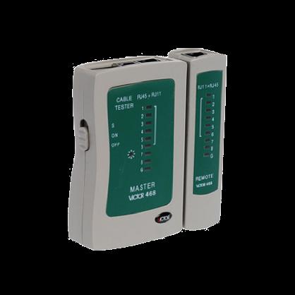 胜利正品 网络测试仪VC468 RJ45+RJ11测试器 测网线 电话线测试仪