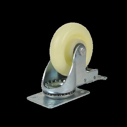 森桓万向轮轮子重型带刹车3寸4寸5寸定向尼龙平板手推车脚轮